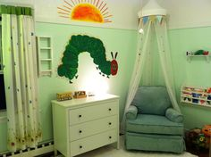 """Baby Nursery, based off of the children's book """"The Very Hungry Caterpillar."""""""
