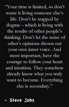 - Steve Jobs