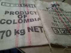 "Incredible strength, beauty, and durability would describe our sisal coffee bags. A massive selection is available offered in a wide range of prints marking their country of origin. To describe the extra strength fabric each bag alone weighs well over 2lb. Sized 28"" x 36"" but is an approximate measurement. Only $2.49!"