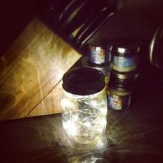 Mason jar fairy lights are a great for wedding and event centerpieces, and work well as home decor too! http://www.lightsforalloccasions.com/p-3178-mason-jar-fairy-lights.aspx #masonjarlights #masonjars #fairylights