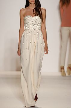 WHITE GOWN ... GORGEOUS FROM: sassily-reckless: hautekills: Noon By Noor s/s 2014 elegantly beautiful