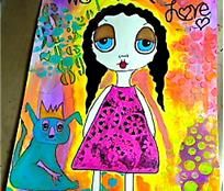 ODD GIRL PAINTING FOR SALE- 13.00