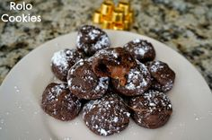 Rolo Cookies AKA the easiest cookies you'll ever make! #cookies #chocolate #caramel #rolo