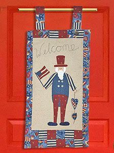 Uncle Sam Door Greeting #4thofJuly