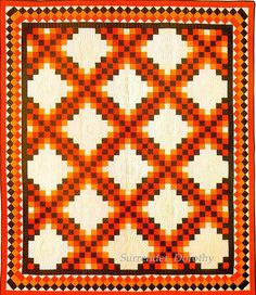 Pieced Quilt Log Cabin 1900. Love the border.