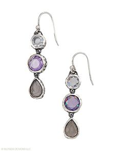 These #CubicZirconia and #SterlingSilver #Earrings are great when you're on the go. #Silpada #Sparkle
