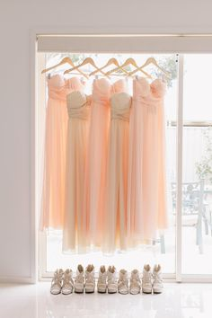 bridesmaid dresses and shoes pic