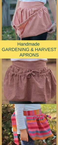 The perfect apron for summer harvesting! Have your little one help you too with a childrens harvest apron. Open and closes easily to gather eggs, produce, etc.! #ad #gardeningapron #farmapron #harvestapron #kidsapron #childrensapron #homesteading