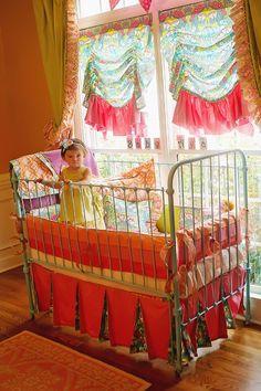 """Such a unique and """"boho-chic"""" nursery design!"""