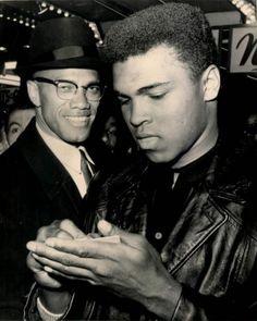 Muhammad Ali and Malcolm X