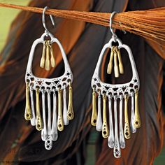 There's nothing like the soft sound of jingling #earrings | #Silpada Wind Chime Earrings