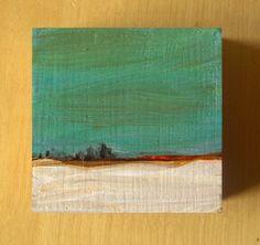 Tiny Winter 16 - Original Painting by Amanda Kavanagh Arkdesignsstudio
