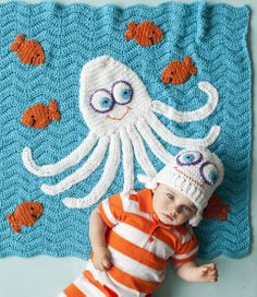 Octopus Blanket and Hat | crochet today