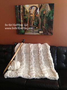 Woolie Mammoth Blanket Pattern by GoGirlKnitting on Etsy
