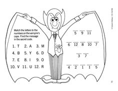 Dracula Secret Code | Click through for more free ideas and activities