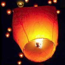 Sky Lanterns: Going to buy one of these and use it in the summer when I go on vacation to Canada.  So cool!