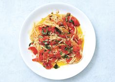 Spaghetti with Tomatoes and Anchovy Butter Recipe - Bon Appétit