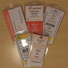 I ordered these this time and the Carnival tags fit in them great - and it will be a relief to just clip and go when we get to Miami rather than putting them together with packing tape and such like last time!  Cruisetags, Cruise Ship Luggage Tags (8 Pack) $16.95 #bestseller