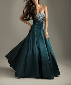 Attractive Ruffle Strone Pin Beads Floor Length Working Satin Prom Dress