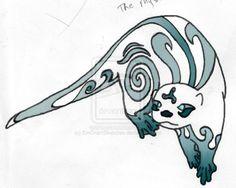 Blue Mystic Otter - Tattoo by ~EmGrantSketches on deviantART