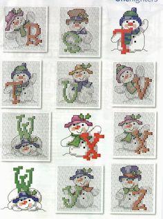 Classic Snowman Alphabet 3 end