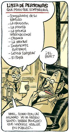 Lista de personas que piden la comparecencia de Rajoy.