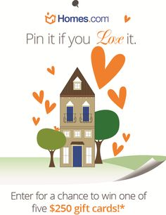 Homes.com Pin it if you Love it Contest. #pinterest #contest #pintowinme
