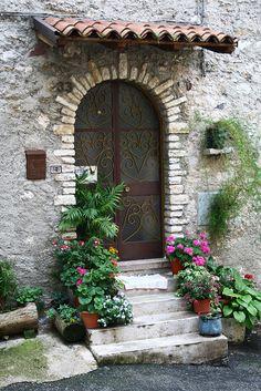 Beautiful doorway Italy