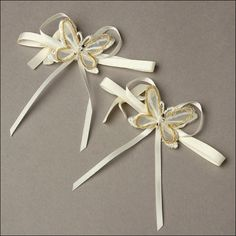 Accent Bows - Radiant Butterfly - Ivory