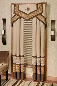 Cosmopolitan allure sweeps through the stylish Delta Cornice Window Treatment. The polyester window treatment is lined.