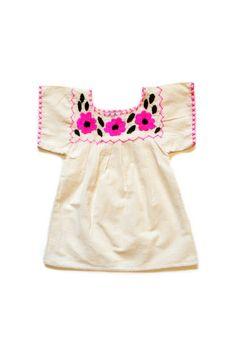 Pink Floral Neckline Dress