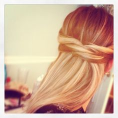 beauty tips, pinned back hairstyles, long hairstyles, left side, hairstyle tutorials, side piec, half, beauti, updo hairstyl