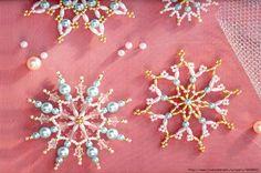 craft, из бисера, snowflak pattern, ornament, beaded snowflake patterns, snowflakes, bead snowflak, снежинки из, christma bead
