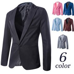 Single Button Slim Fit Solid Color Blazer | Sneak Outfitters