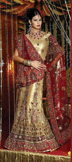 Bridal wedding lehenga.....a perfect dress for weddings.....Buy@ http://www.indianweddingsaree.com/product/68051.html