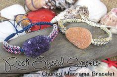 Rock Crystal Macrame Bracelets