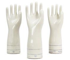 industri porcelain, weight, vintage, porcelain glove, display, gloves, vintag porcelain, glove mold, finger puppet
