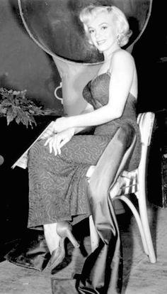 Marilyn during the filming of Gentlemen Prefer Blondes in 1953.