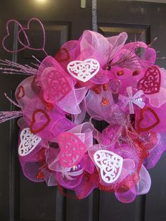 Valentine Ribbon Wreath-