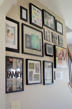 black frame wall collage