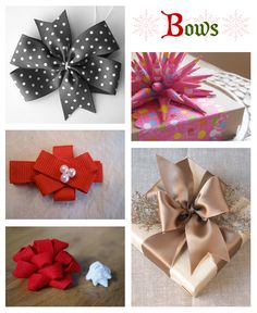 B is for Bows-- DIY for gift wrapping bows.