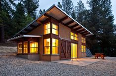 All you need. 872 sq ft cabin by Arkin Tilt Architects.