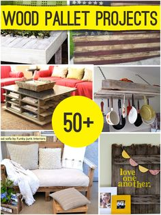 Over 50 Repurposed Wood Pallet Projects to make @savedbyloves - if the fibro cooperates, I hope to be making some of these. :)