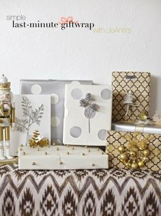 Simple and gorgeous last minute gift wrap ideas from @Disney #fabulouslyfestive