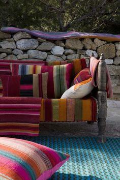 Colorful cozy patio