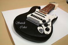 Electric Guitar Cake by Swirek, via Flickr
