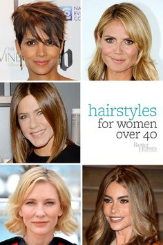 Find a hairstyle that works for you! Get our best looks here: http://www.bhg.com/beauty-fashion/hair/hairstyles-for-women-over-40/?socsrc=bhgpin071014hairinyourforties
