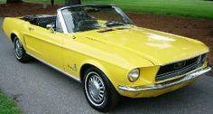 Yellow... mustang.....convertible !!! Trifecta!!!