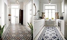 Pavimenti on pinterest - Carreaux de ciment noir et blanc ...