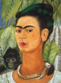 Frida Kahlo- Self Portrait with Monkey